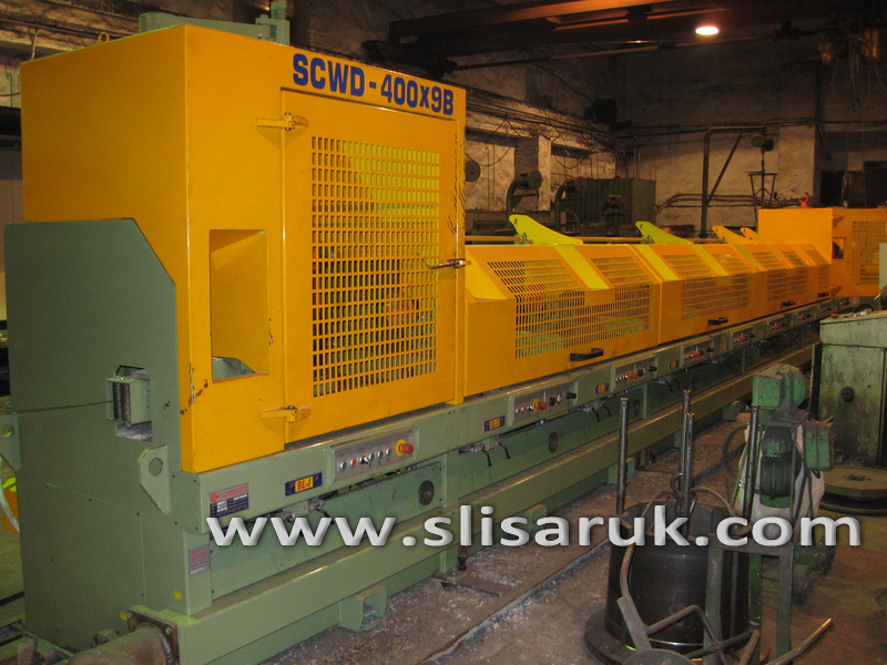 Straight Line Continuous Wire Drawing Machine SCWD-400 (9-Block)