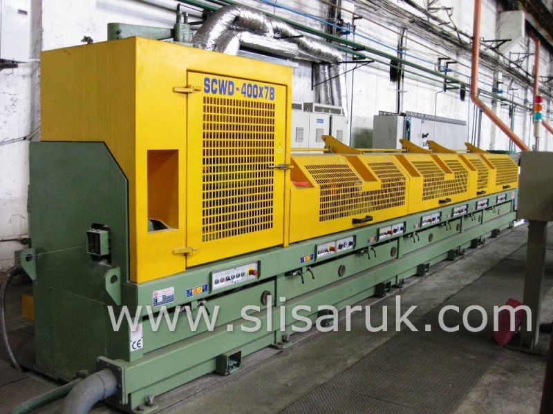 Straight Line Continuous Wire Drawing Machine SCWD-400 (7-Block)